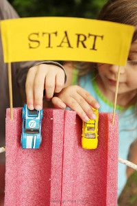 Pool Noodle Race Track | Summer Crafts for Kids