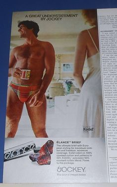 8986b79d135 1979 Jockey Men s Elance Briefs Underwear Ad Sexy Man Jockey Mens