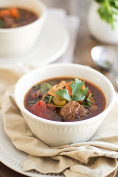Beef and Vegetable Soup   thehealthyfoodie.com