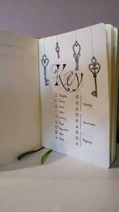 Bullet Journal Key #bulletjournal #key #kreativ #handlettering #kaligraphie #zeichnen #lettering #legende #schlüssel