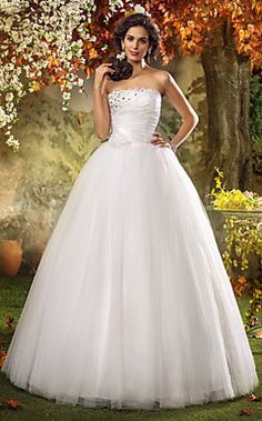 una línea de tren vestido de novia de tul de barrido / cepil... – EUR € 164.99