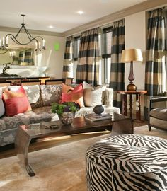 Modern Chic Living Room Design To Give A Charming Look - HomyBuzz Eclectic Living Room, Transitional Living Rooms, Chic Living Room, Living Room Designs, Decorating A New Home, Interior Decorating, Home Decor, Decorating Ideas, Interior Ideas