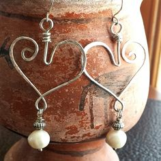 Buy Heart of Silver Earrings by ColorFrill, Inc. on OpenSky