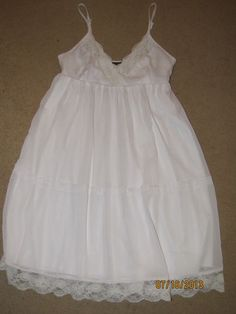 Fire Los Angeles BABYDOLL FLowing White Dress Adjustable Straps Amazing!