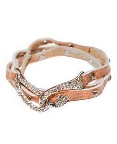 skinny leather wrap bracelet