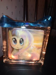 My Little Pony lighted glass block.  Check out my custom made lighted glass blocks at my Etsy store IrwinRags!https://www.etsy.com/shop/IrwinRags