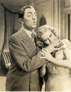 Jean Harlowe and William Powell