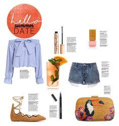 """summer date"" by zerinafe ❤ liked on Polyvore featuring Habit Cosmetics, Serpui, Charlotte Tilbury, Lancôme, Isabel Marant, Paul Frank, Fresca, beach and summerdate"