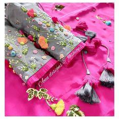 Hand Work Blouse Design, Simple Blouse Designs, Silk Saree Blouse Designs, Stylish Blouse Design, Designer Blouse Patterns, Kurti Designs Party Wear, Bridal, Blouses, Sarees