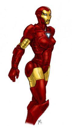 Iron Woman by Osmatar.deviantart.com on @deviantART