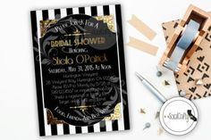 Bridal Shower Invitation, Great Gatsby, Printable Invitation, Roaring 20's, Birthday Party, Gold Glitter, Digital or Printed Invitation #babyshowerideas4u #birthdayparty  #babyshowerdecorations  #bridalshower  #bridalshowerideas #babyshowergames #bridalshowergame  #bridalshowerfavors  #bridalshowercakes  #babyshowerfavors  #babyshowercakes