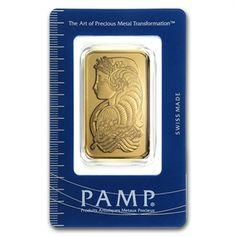 1 oz Pamp Suisse Gold Bar .9999 Fine (In Assay)