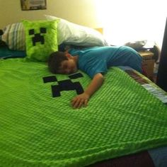 Minecraft Blanket and Pillow