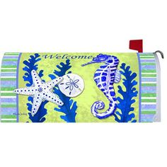 Seahorse Welcome Mailbox Cover
