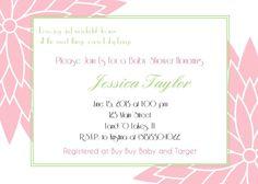 Baby or Bridal Shower Printable Invitations by TrishsDesignStudio