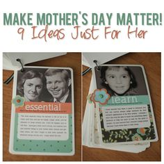 Make Mother's Day MATTER! 9 Ideas Just For Her