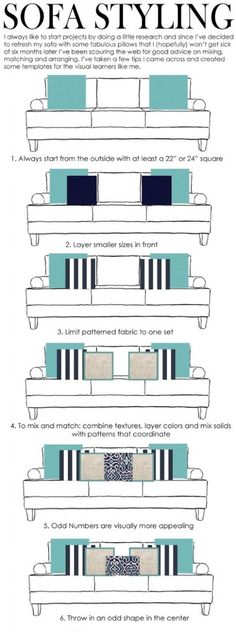 Decorate a sofa with cushions