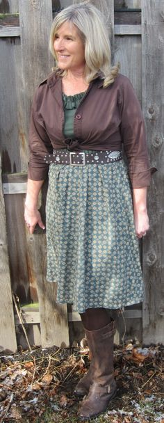 Vestido de DIY y camisa refashion