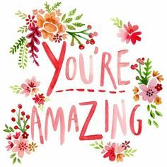 """Quotes about Love : Love quote idea – """"You're amazing."""" {Courtesy of Felicity French} Pretty Words, Beautiful Words, Beautiful Things, Love Quotes, Inspirational Quotes, Motivational, Aim Quotes, Praise Quotes, Qoutes"""