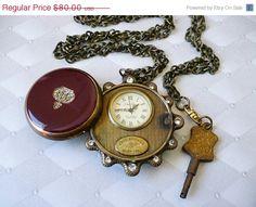 steampunk key wound pocket watch