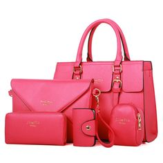 5 Bags per Set Women Handbag/ Girl Messenger Bag/ Women Wallet/ Women Coin Purse/ Card Holder