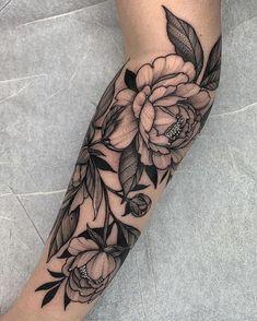 Nature tattoo by Kyle Stacher aka Thief Hands Piercing Tattoo, Piercings, Carnation Tattoo, Peonies Tattoo, Cute Tattoos, Body Art Tattoos, Sleeve Tattoos, Tatoos, Makeup Tattoos