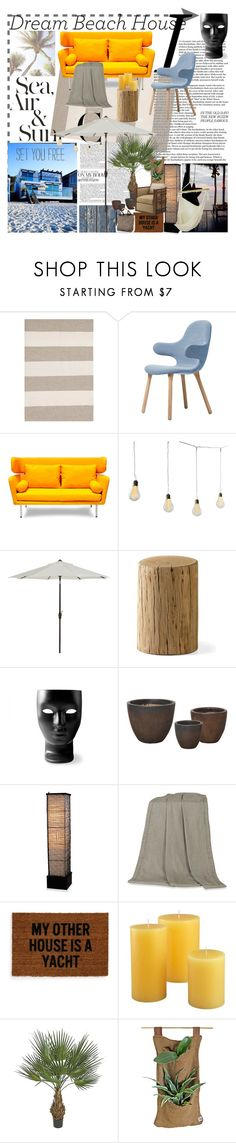"""""""dreamin' of a beach----"""" by zree ❤ liked on Polyvore featuring interior, interiors, interior design, home, home decor, interior decorating, Dash & Albert, &Tradition, Dot & Bo and Driade"""
