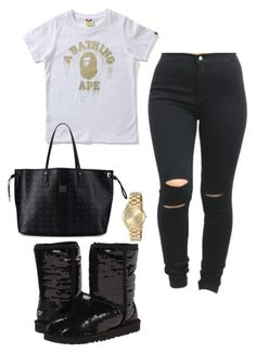"""""""Untitled #66"""" by tay-liangg on Polyvore featuring Michael Kors, UGG Australia and MCM"""