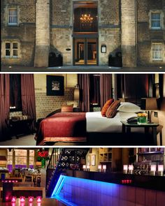 """The Malmaison Oxford Castle Hotel has transformed what was once a dingy penitentiary to a luxurious boutique hotel full of plush linens and fresh-cut flowers. The hotel has retained the names of various sections including """"C Wing"""", where prisoners were once punished, """"The Governor's House"""" and the """"Houses of Correction""""."""