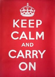 Keep Calm and Carry On retro metal sign