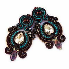 Autumn soutache by Artspirale on Etsy, $110.00