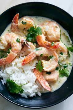 NYT Cooking: You can make this gingery, lightly sweet shrimp stew as tangy and s. - NYT Cooking: You can make this gingery, lightly sweet shrimp stew as tangy and spicy as you like by - Lime Shrimp Recipes, Seafood Recipes, Cooking Recipes, Healthy Recipes, Seafood Meals, Salmon Recipes, Shrimp Stew, Shrimp Curry, Sweet Shrimp