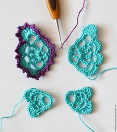 20 ideas embroidery stitches tutorial free pattern fabrics for 2019 Crochet Butterfly Free Pattern, Crochet Birds, Crochet Mandala, Freeform Crochet, Irish Crochet, Crochet Motif, Crochet Crafts, Easy Crochet, Crochet Flowers