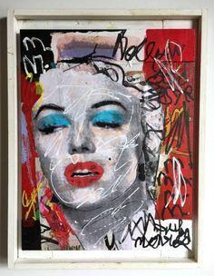 Marilyn Monroe マリリンモンローオリジナル french artist pop7_画像1