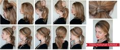 #Learn easy steps to get 1960's style #Ponytail.