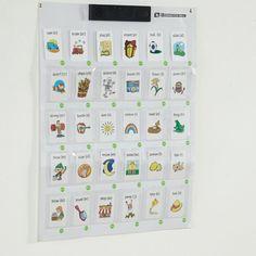 Den interaktive væg fungerer fint på tværs af fagene. Du kan placere kort, genstande eller tegninger i plastlommen og derefter indspille op til 10 sekunders meddelelse, som fortæller om genstanden i hver enkelt lomme.