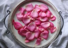 DIY Rosewater - heavenly scented rosewater is a delightful flavoring for desserts, and a healthy tonic for your skin.