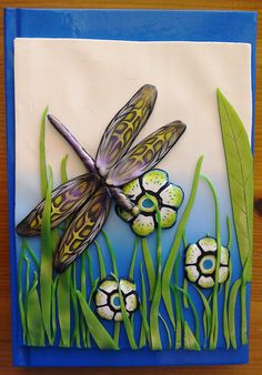 Polymer Clay notebook journal cover by ChristineSummersArt on Etsy
