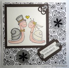Wedding Card with Stamps from Lelo-Design, Germany