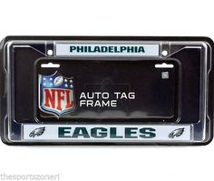 Philadelphia Eagles Chrome Automobile License Plate Frame Visit our website for more: www.thesportszoneri.com