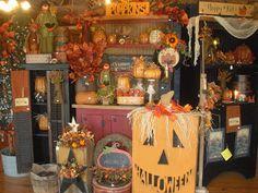 C & C Furnishings:  fall store display