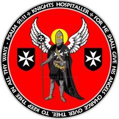 Knights Hospitaller Angel Seal by williammarshalstore on DeviantArt Knights Hospitaller, Knights Templar, 4 Kingdoms, Thor, Kingdom Of Jerusalem, Solomons Temple, Navy Cross, Crusader Knight, Military Orders