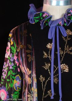 Yves Saint Laurent vintage beaded sequined by TheFrockDotCom