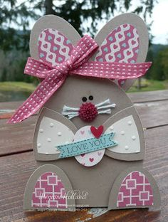 Stampin' Up! Easter by Meg H at Megumis Stampin Retreat: Oval Framelit Easter Bunny Basket