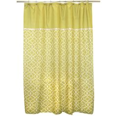 Waverly Lovely Lattice Citron Shower Curtain   Overstock™ Shopping - Great Deals on Shower Curtains