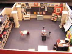 My HS Latin Classroom, rebuilt as a gift to my Latin teacher when she retired.
