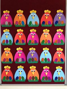 Yumurtalı tavuklarımüge;) Spring Crafts For Kids, Easter Art, Easter Projects, Bunny Crafts, Easter Crafts For Kids, Diy For Kids, Easter Activities, Preschool Crafts, Preschool Education