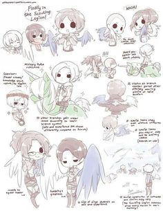 I LOVE THIS IDEA - if branches gained items according to their branch symbol . . . unicorns, wings, and flower crowns! Shingeki no Kyojin / Attack on Titan | SnK / AoT