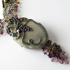 Lampwork and freeform peyote necklace by PacificJewelryDesign, $229.00