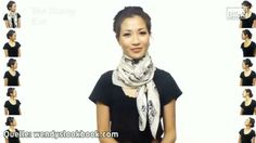 25 Ways to Wear a Scarf in Minutes! 25 Ways to Wear a Scarf in Minutes! Ways To Wear A Scarf, How To Wear Scarves, Tie Scarves, Preppy Outfits, Office Outfits, Scarf Knots, Scarf Rings, Scarf Styles, Dress To Impress